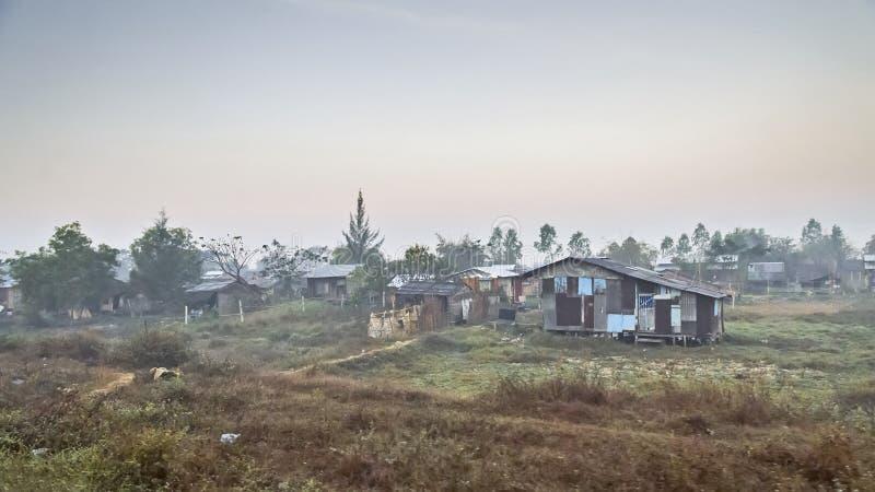 Tugurios Myanmar fotografía de archivo