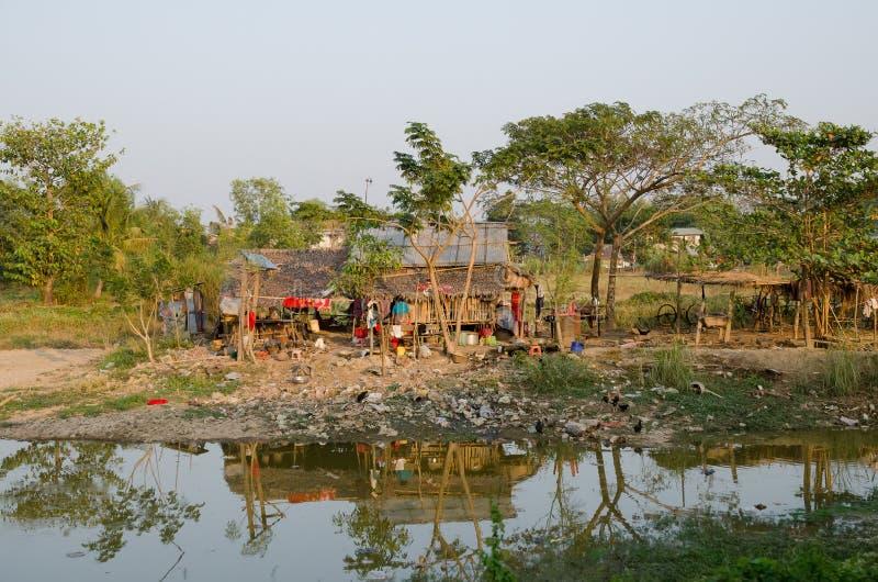 Tugurios Myanmar imágenes de archivo libres de regalías