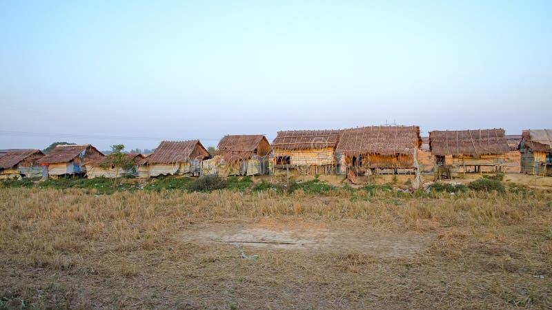 Tugurios Myanmar imagen de archivo libre de regalías