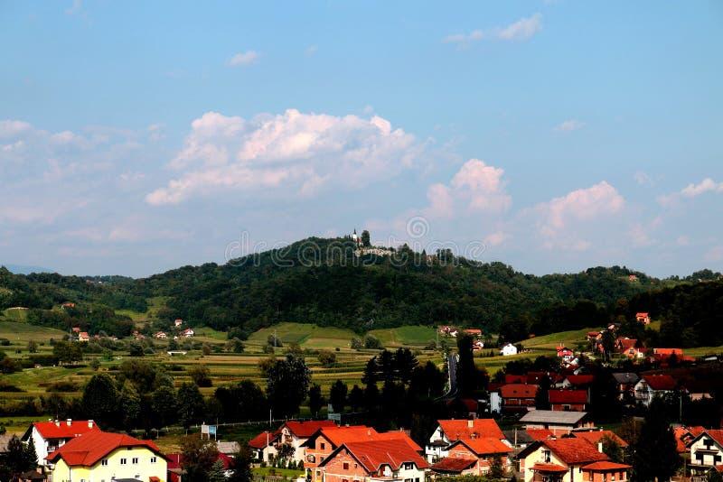 Tuhelj, Zagorje, τοπίο της Κροατίας στοκ εικόνες