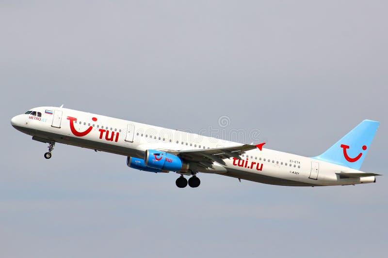 TUI Russia Airbus A321 royalty-vrije stock afbeelding