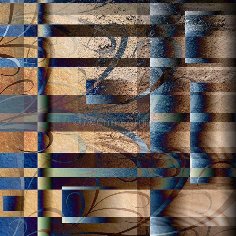 Tuile abstraite grunge illustration stock