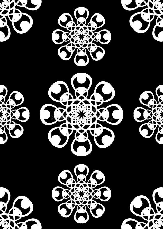 Tuile blanche noire de cru   illustration libre de droits