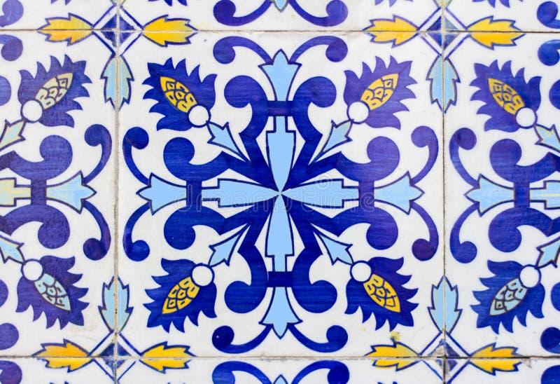 Tuile d'azulejos du Portugal image libre de droits