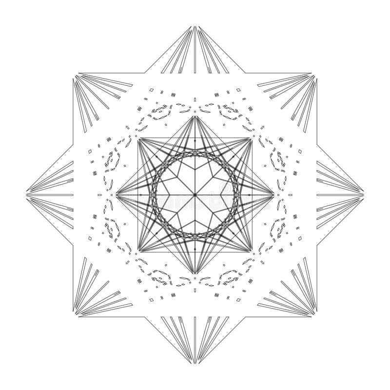 Tuile de forme d'étoile illustration libre de droits