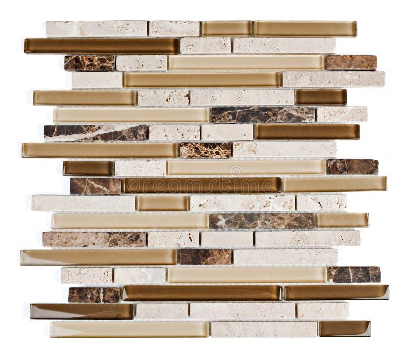 Tuile de mosaïque normale de marbre et de granit. images stock