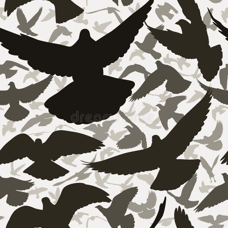 Tuile de pigeon illustration de vecteur