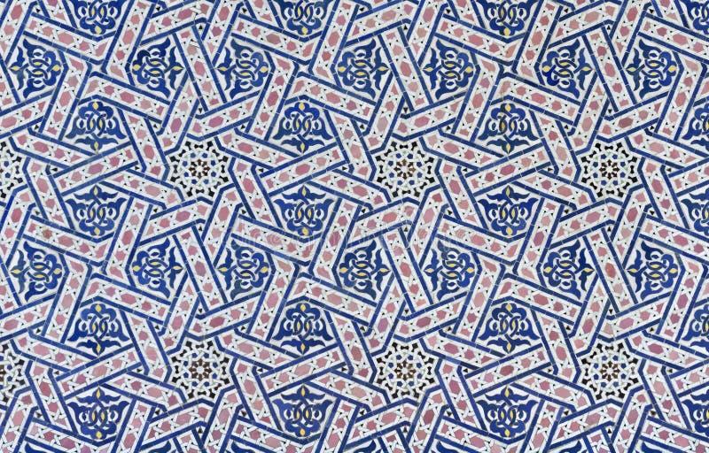 Tuile de Zellige de Marocain image stock