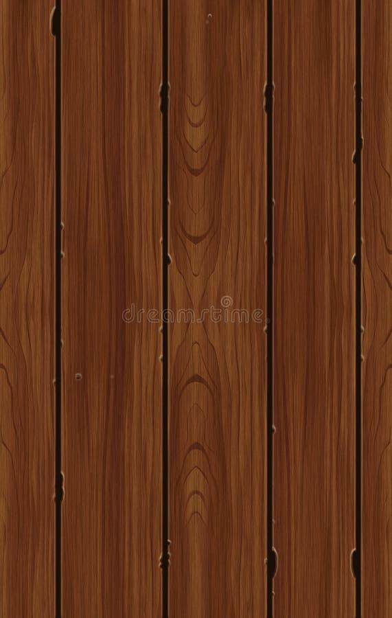 Tuile en bois sans joint de configuration illustration stock