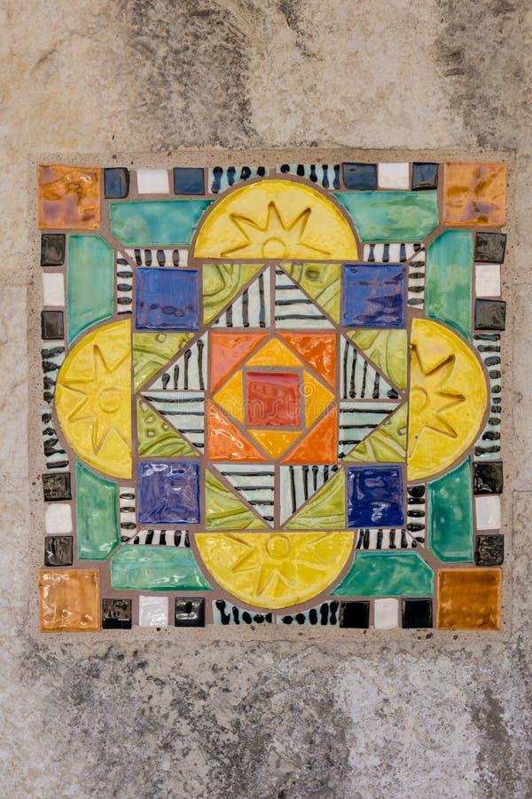 Tuile espagnole colorée V images stock
