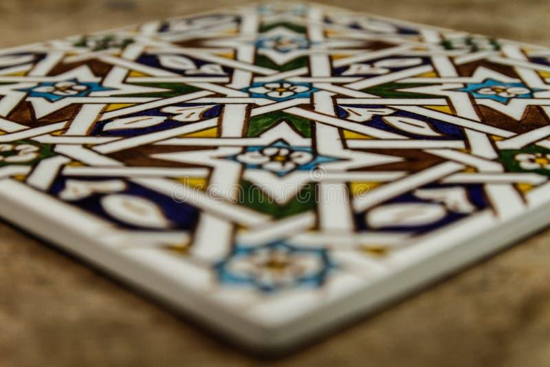 Tuile marocaine de zellige de Marrakech photographie stock