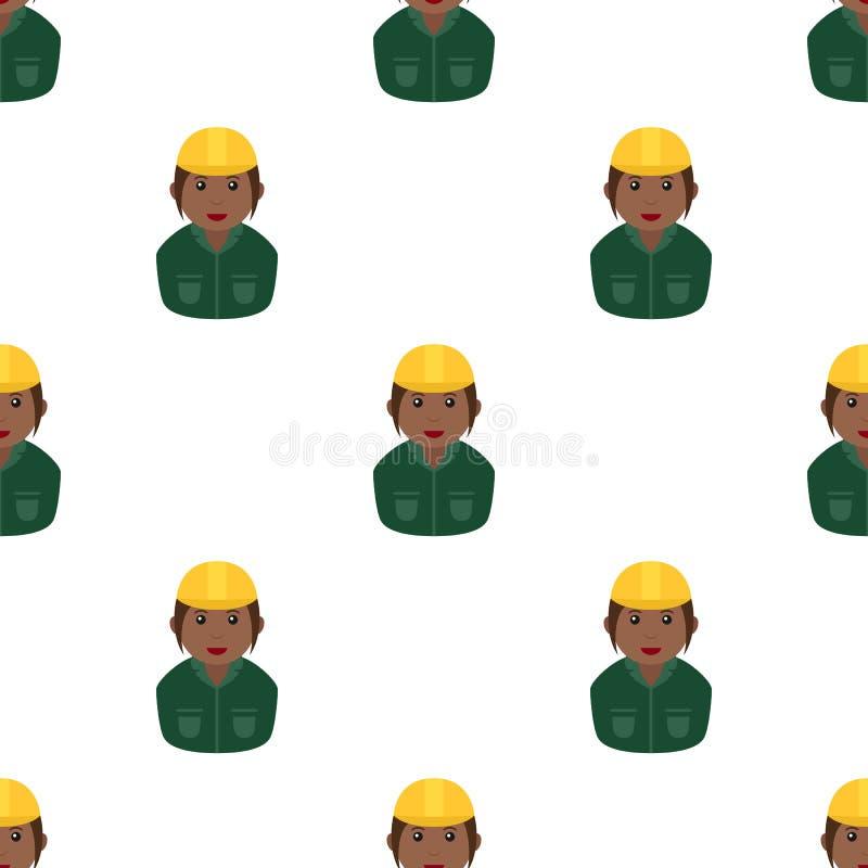 Tuile noire de casque de sécurité de femme de travailleur illustration stock