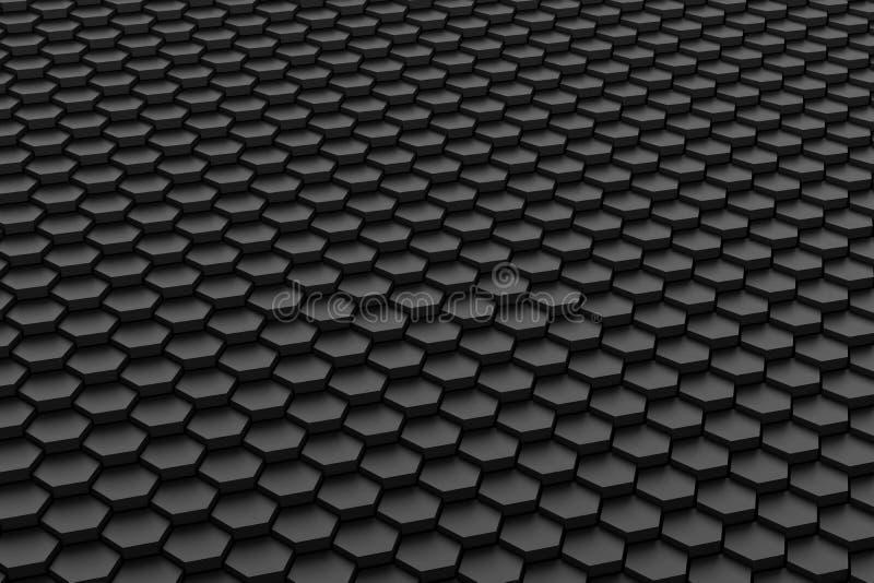 Tuile noire et blanche d'hexagone images stock
