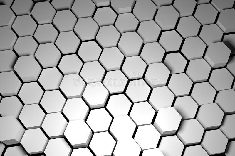 Tuile noire et blanche d'hexagone photographie stock
