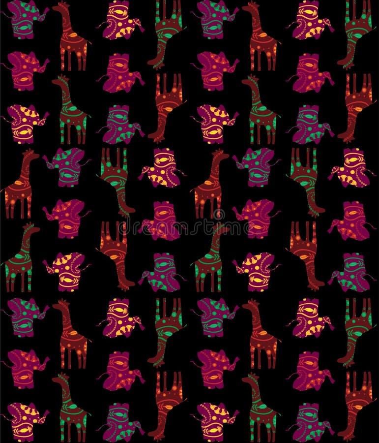 Tuile sans joint africaine illustration de vecteur