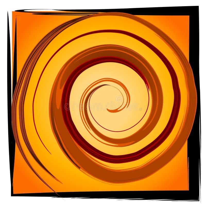 Tuile spiralée de remous - noir d'or illustration libre de droits