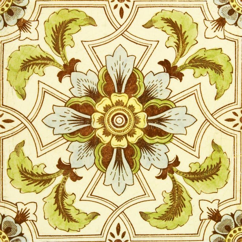 Tuile teintée par antiquité images stock