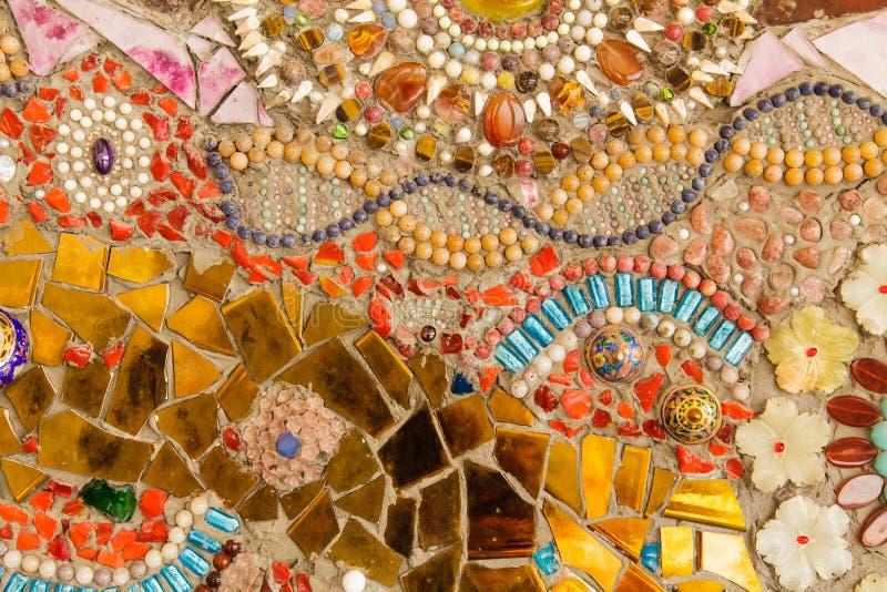 Tuile vitrée colorée image stock