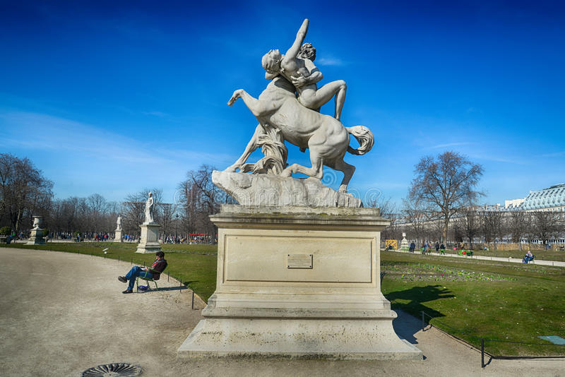 Tuileries gardens, Paris stock photography