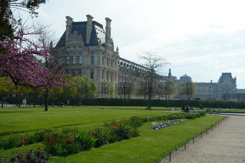 The Tuileries gardens in Paris stock photos
