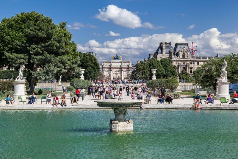 Tuileries ogród Paryż Francja obraz royalty free