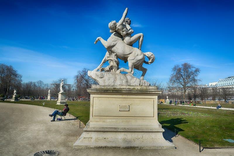 Tuileries trädgårdar, Paris arkivbild