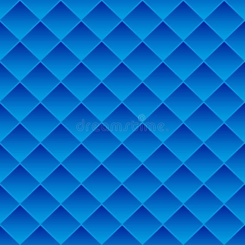 Tuiles abstraites de bleu de fond illustration stock