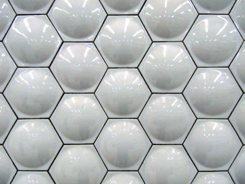 Tuiles blanches d'hexagone photo libre de droits