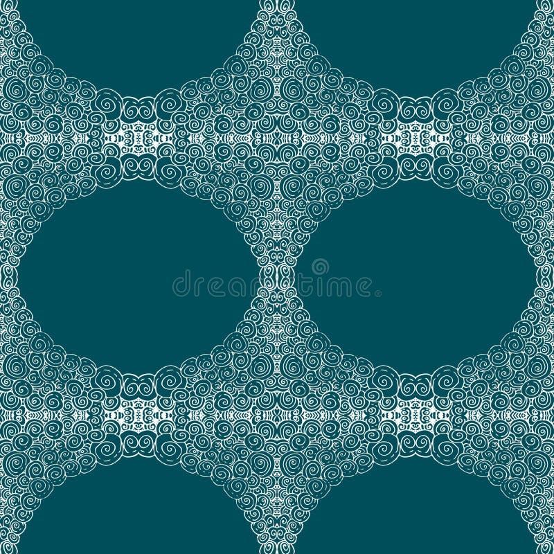 Tuiles bleues avec le modèle sans couture illustration stock