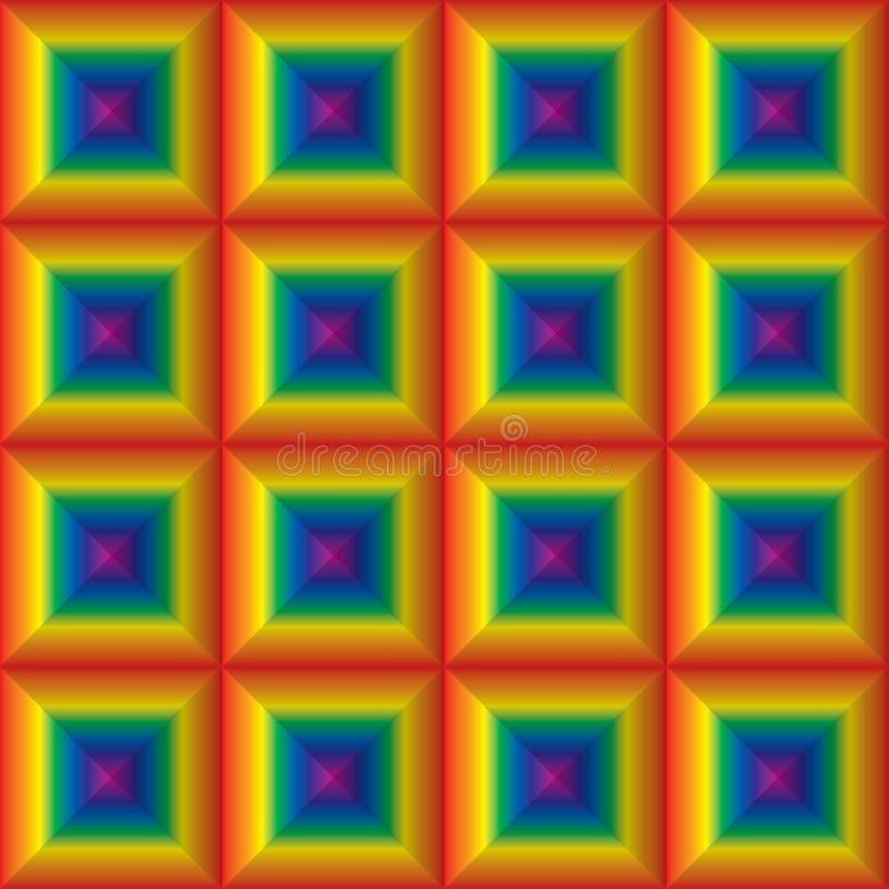 Tuiles carrées 2 d'arc-en-ciel illustration libre de droits