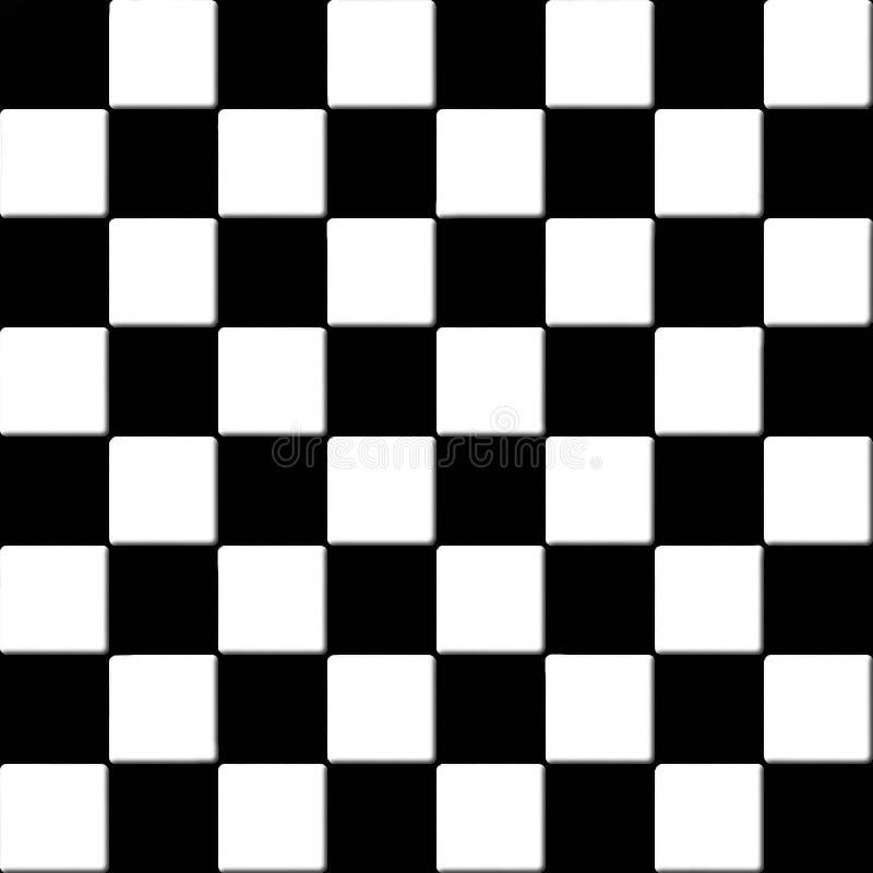 Tuiles checkered noires et blanches sans joint illustration libre de droits