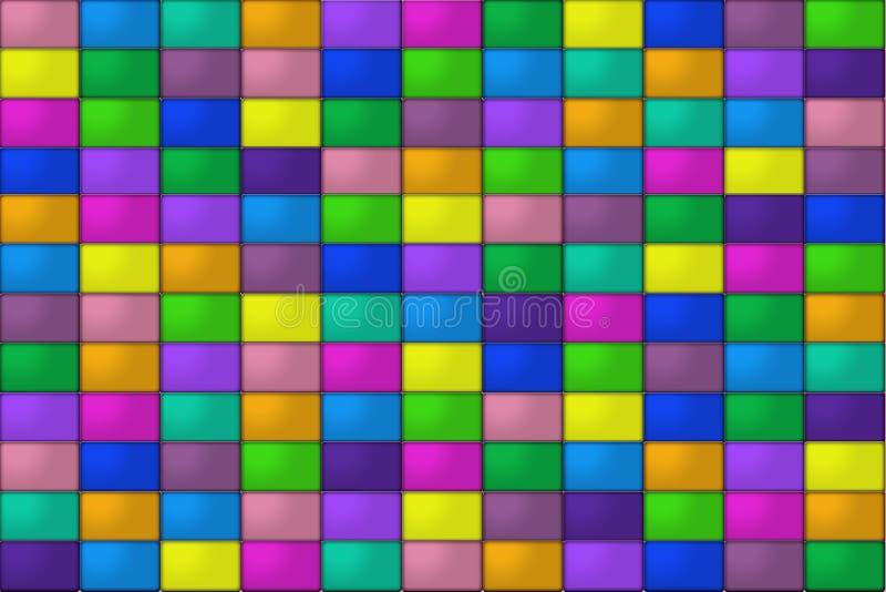Tuiles colorées illustration stock