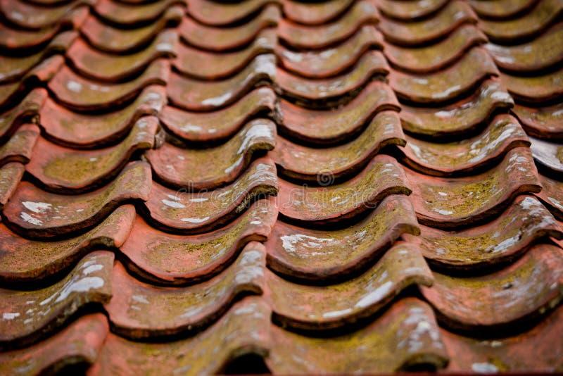 Tuiles de cimaise sur un toit image libre de droits