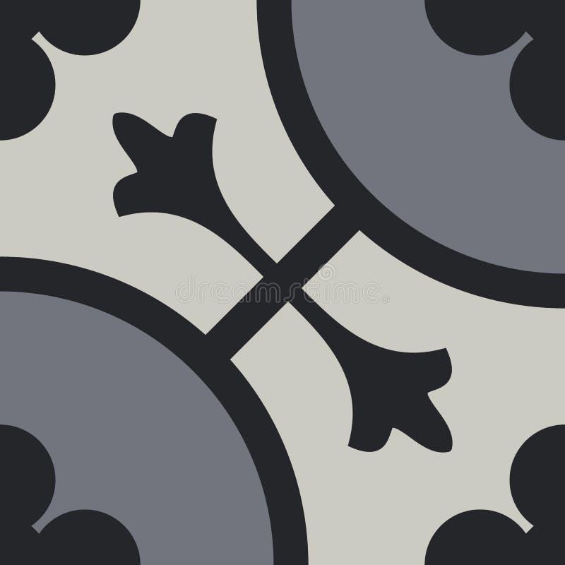 Tuiles de ciment de vintage illustration libre de droits