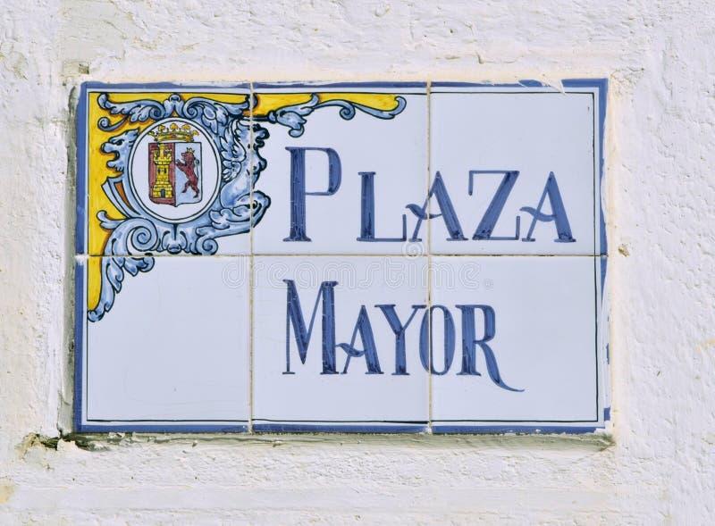 Tuiles de maire de plaza image libre de droits