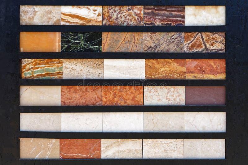 Tuiles de marbre image stock