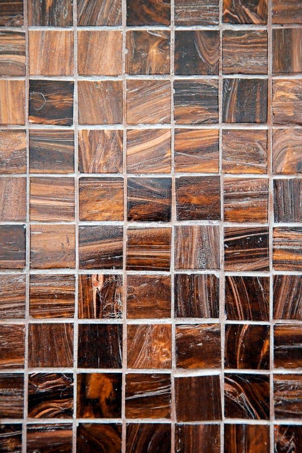 Tuiles de marbre de Brown photo stock