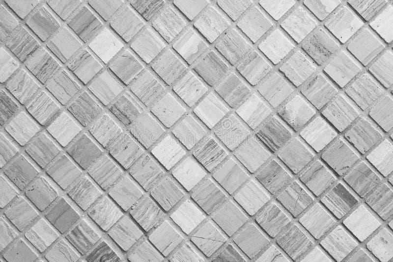 Tuiles de mosaïque beiges et grises Fond de mosaïque photographie stock libre de droits