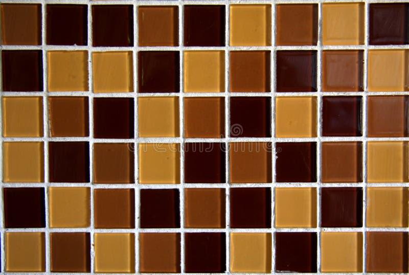 Tuiles de mosaïque de Brown photographie stock libre de droits