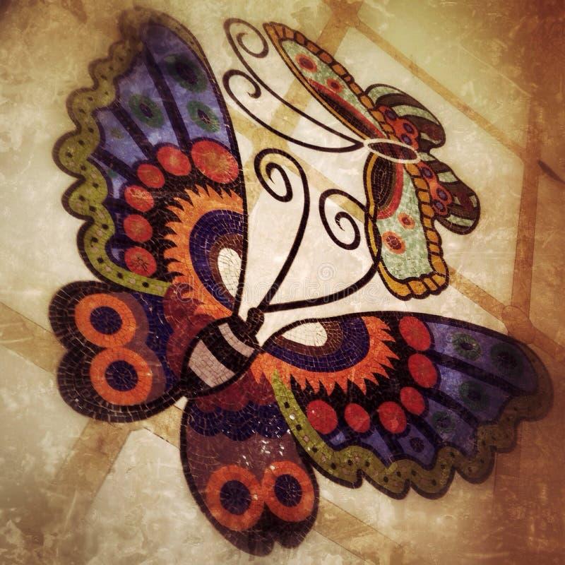Tuiles de papillons photographie stock