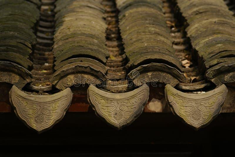Tuiles de toit de classique chinois photo stock