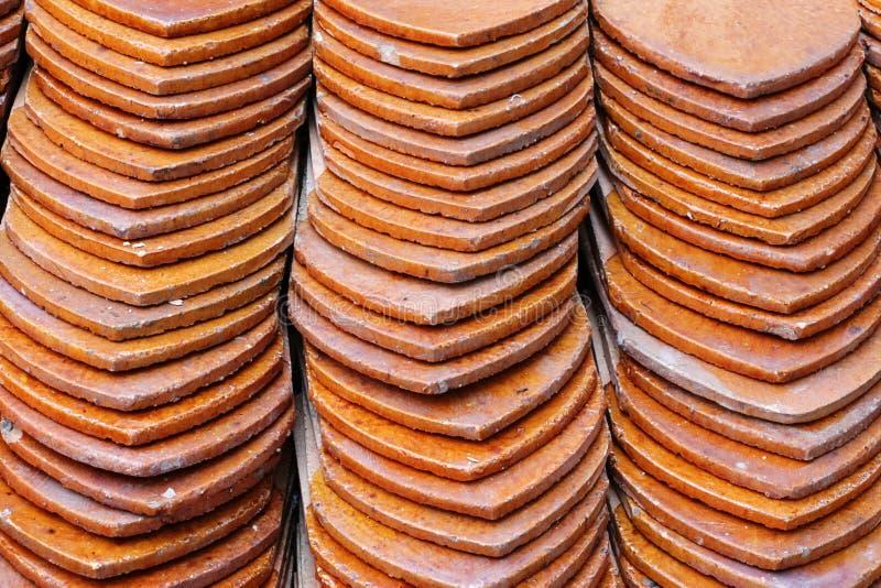 Tuiles de toit de temple photo stock