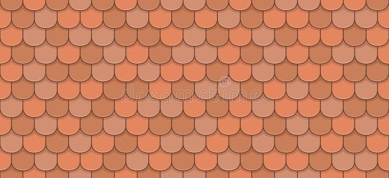 Tuiles de toit oranges illustration stock