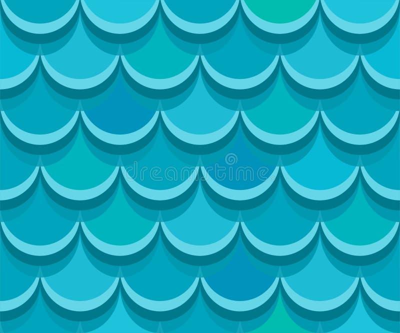 Tuiles de toit sans couture de bardeau Configuration de vecteur illustration stock