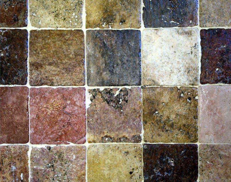 Tuiles en pierre carrées image libre de droits