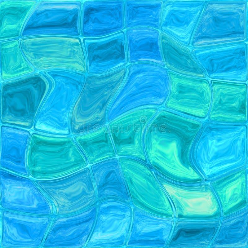 Tuiles en verre bleues photos stock