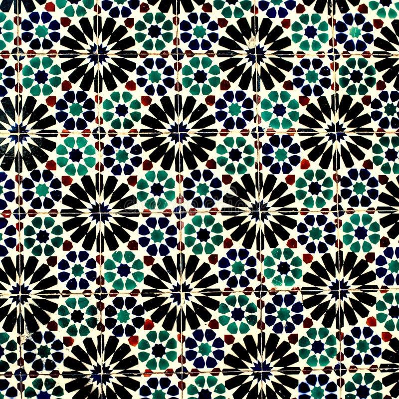 Tuiles marocaines et portugaises colorées typiques, Azulejo, ornements photo libre de droits