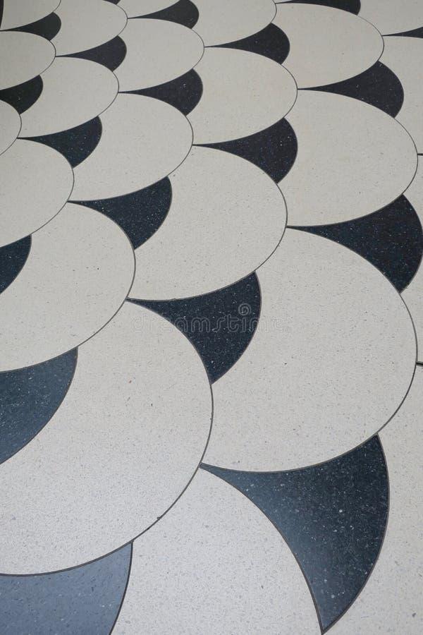Tuiles noires et blanches dans le hall Tate Gallery images libres de droits