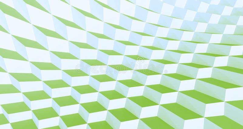 Tuiles ondulées vertes illustration de vecteur