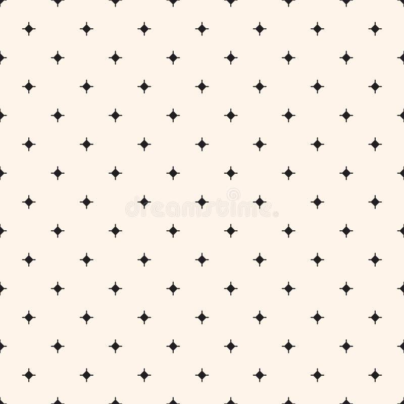 Tuiles ou tissu sans couture de fond de vecteur de modèle avec des étoiles illustration libre de droits